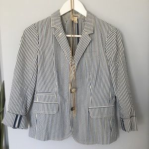 J Crew sear-sucker blazer